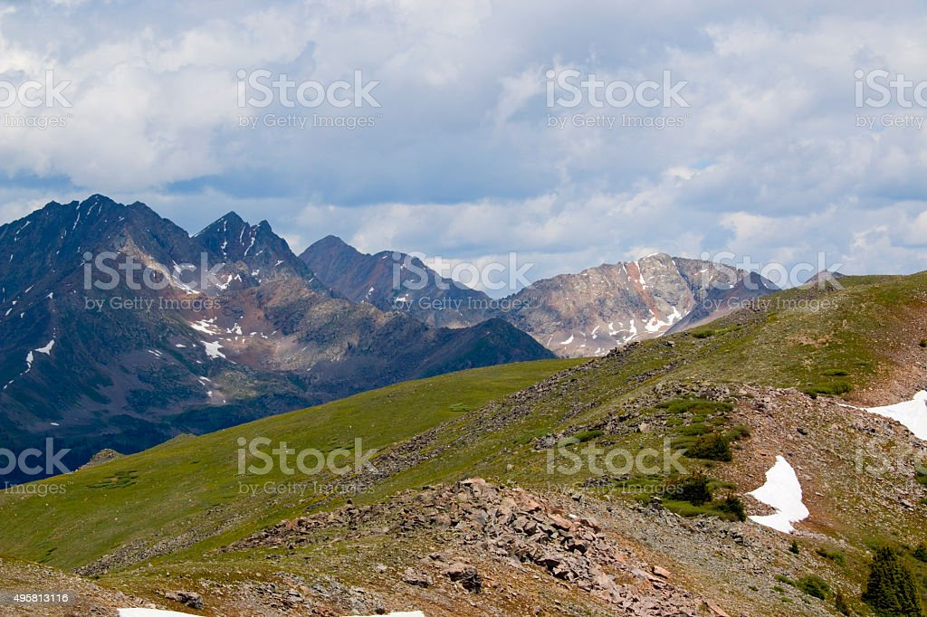 Vertical Black Colorado Cottonwood Pass Print CO Colorado Travel Print White Photo of the Continental Divide Colorado Landscape