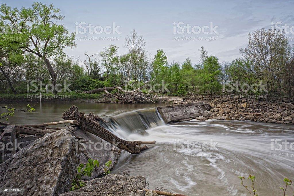 Cottonwood River, Chase County, Kansas stock photo