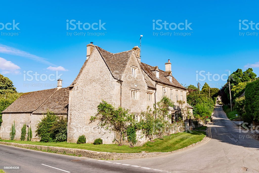 Cotwolds old village stock photo