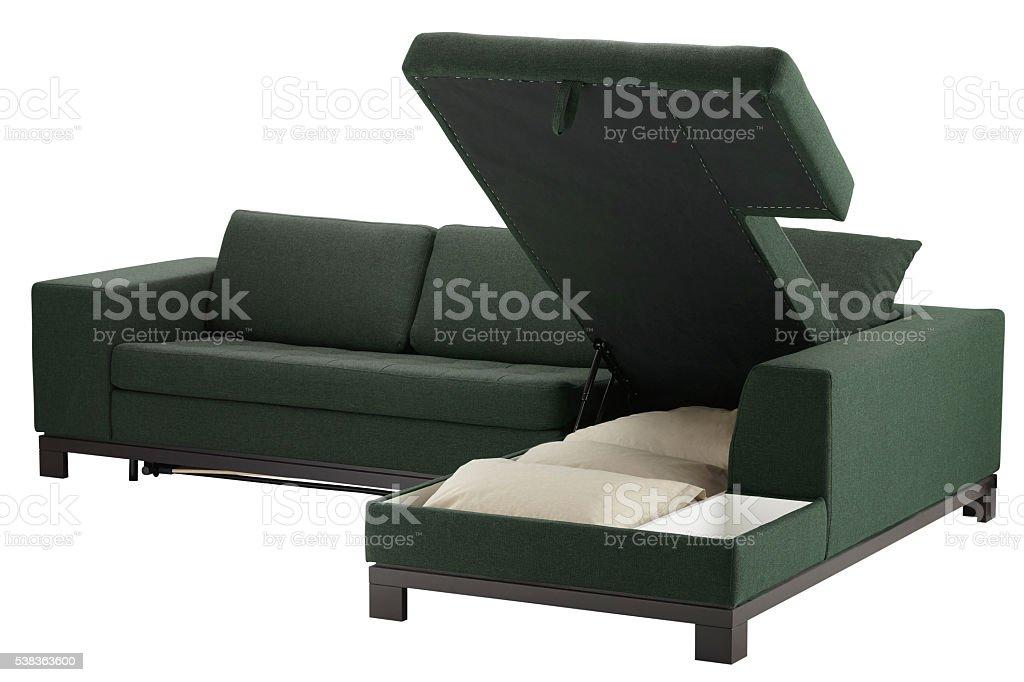 Sofa Bett Mit Stauraum Stockfoto und mehr Bilder von Behaglich