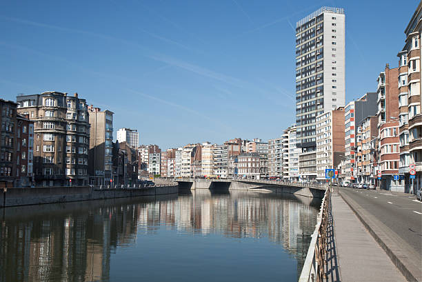 Liege The river Meuse in Liege meuse river stock pictures, royalty-free photos & images
