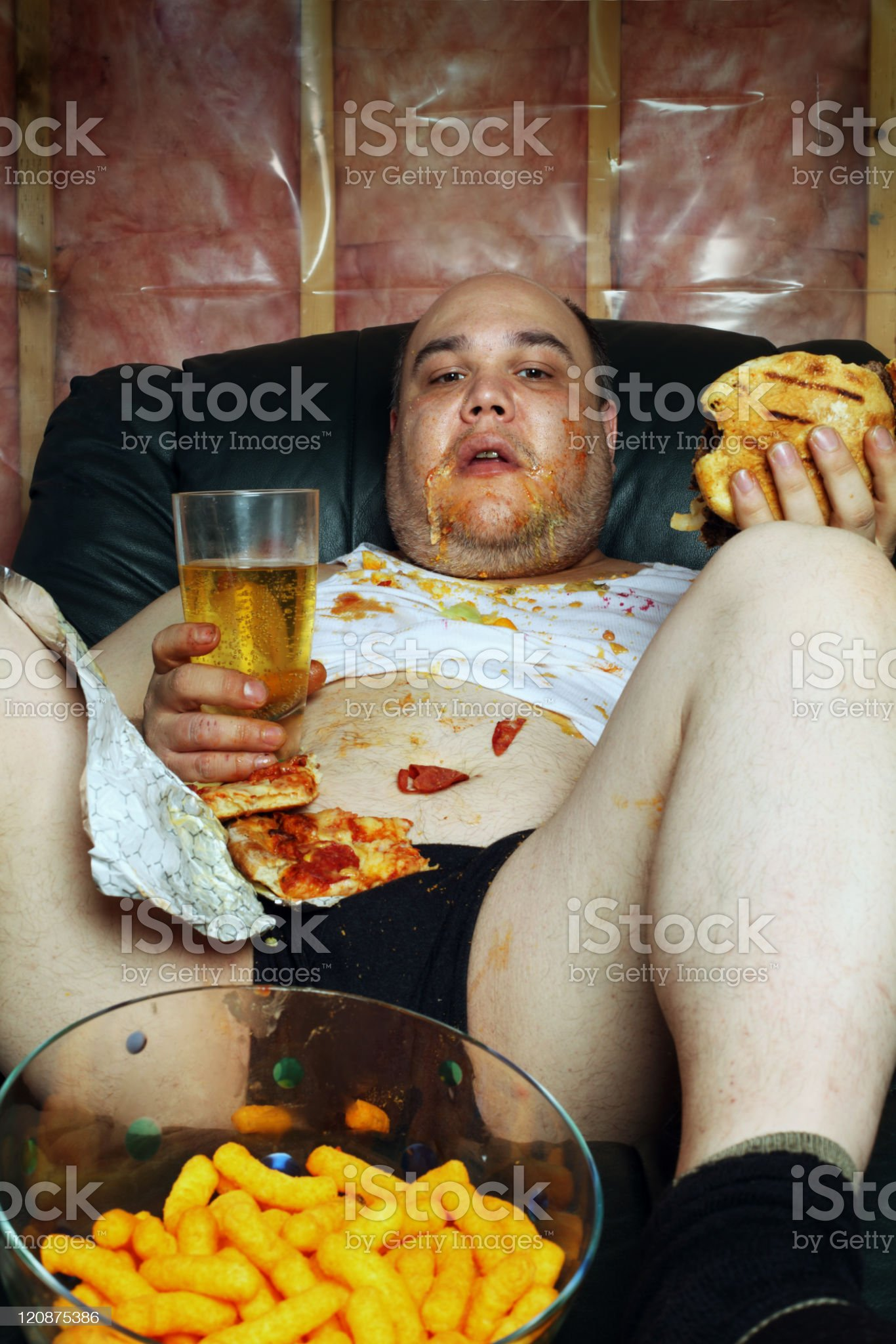 Couch potato royalty-free stock photo