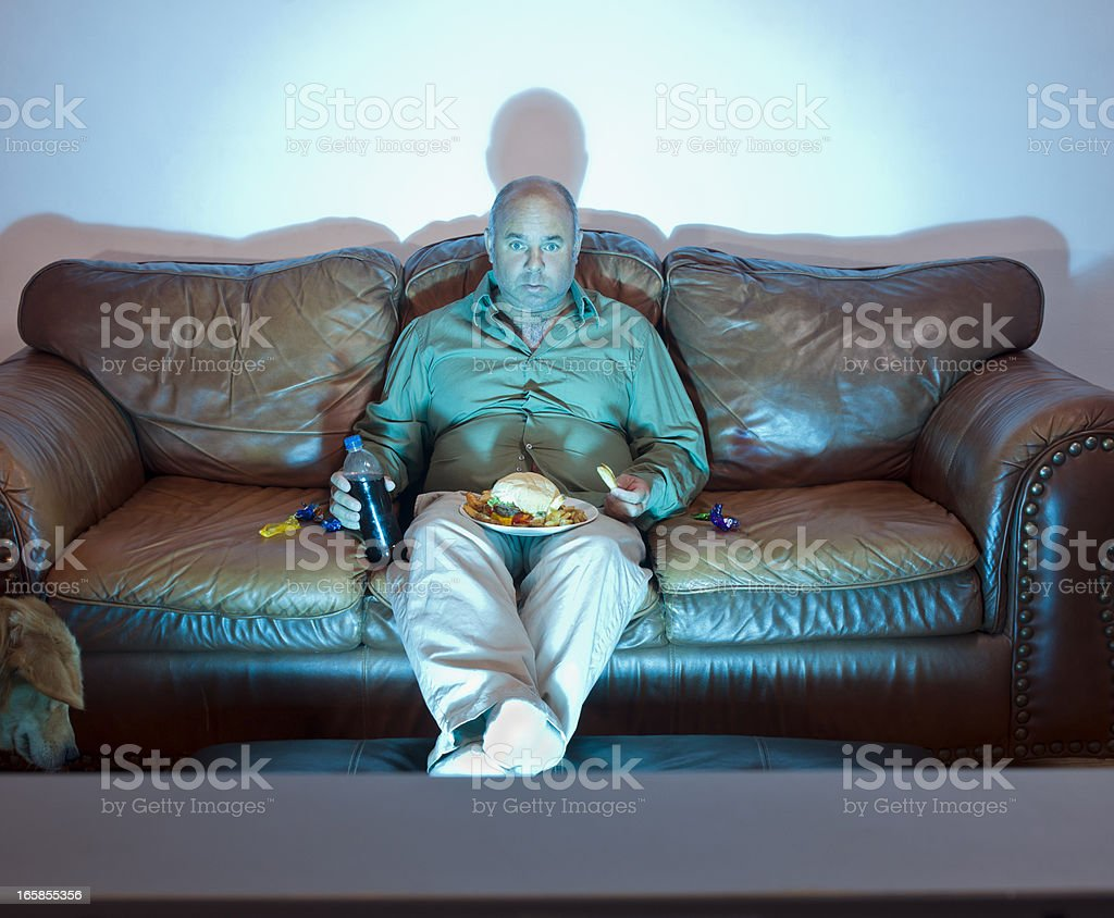 Couch potato stock photo