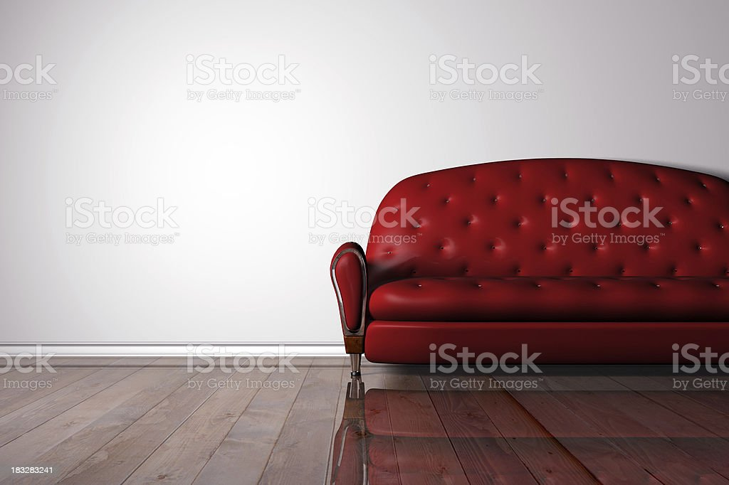 Couch render (CGI) royalty-free stock photo