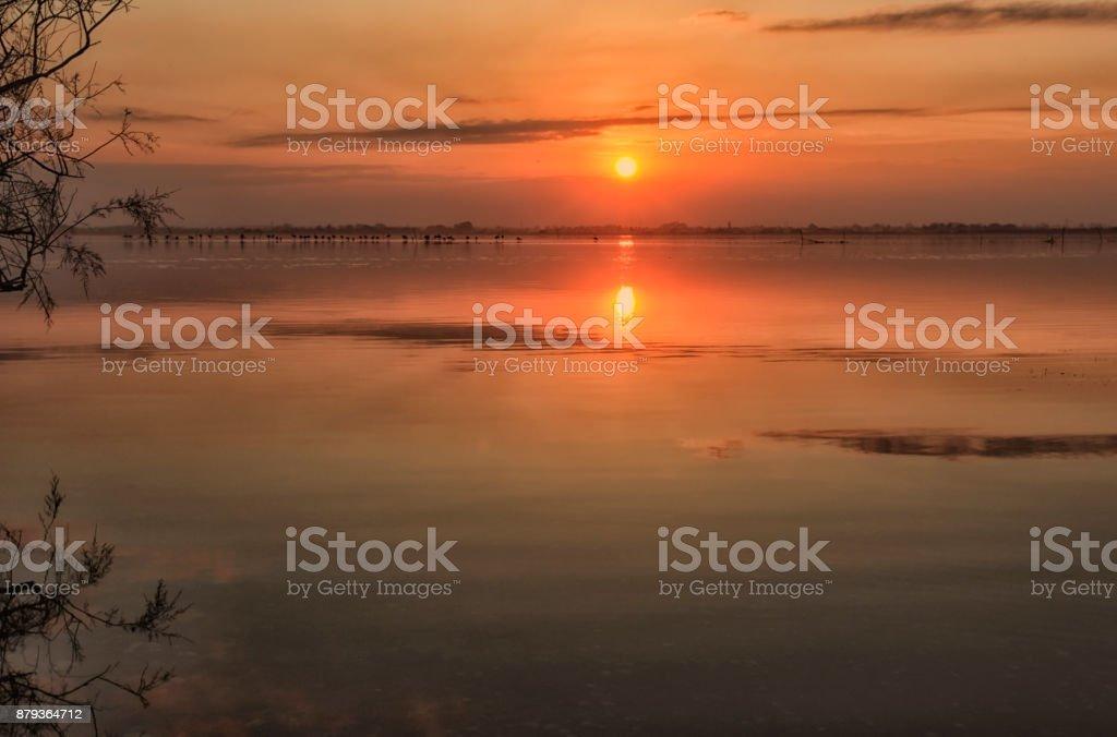 coucher de soleil stock photo