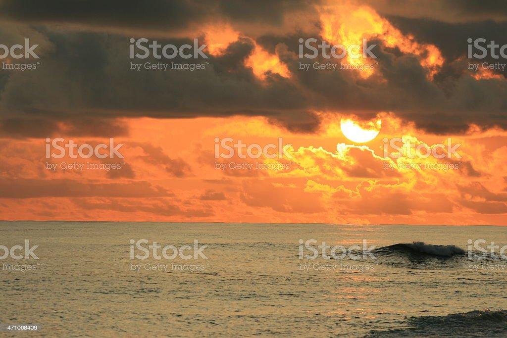 coucher du soleil royalty-free stock photo