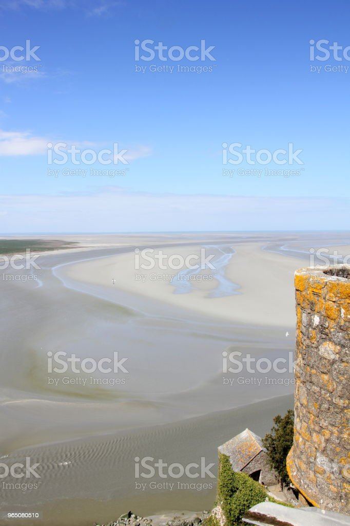 Couesnon River Estuary at Mont Saint-Michel royalty-free stock photo