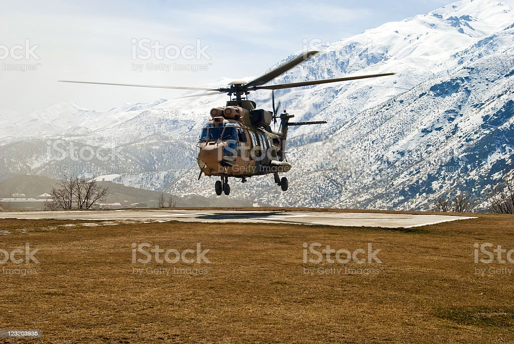 Cougar Helicopter stock photo