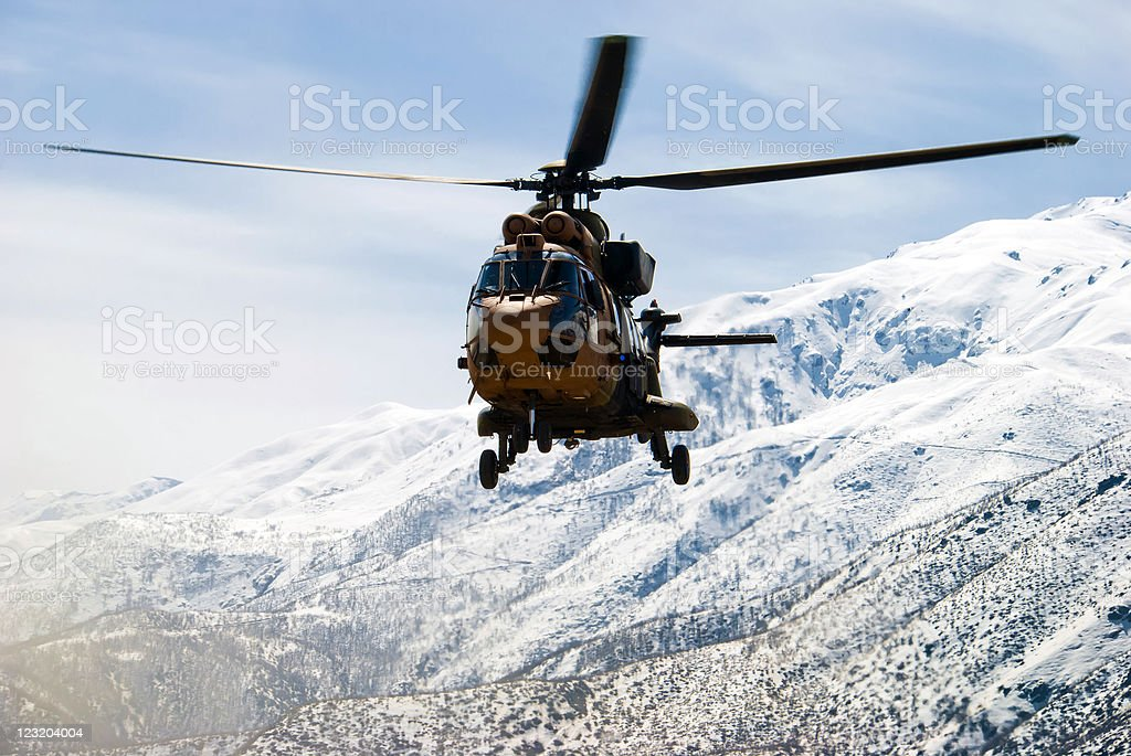 Cougar Military Helicopter stock photo