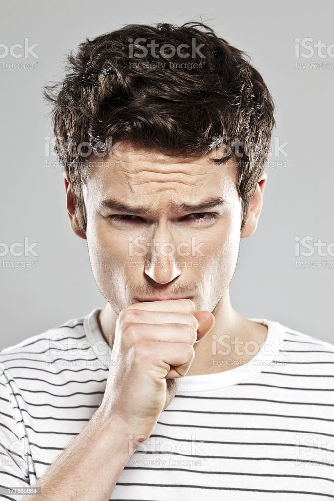 Cough royalty-free stock photo