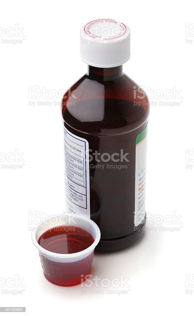 Jarabe para la tos y resfrío - foto de stock