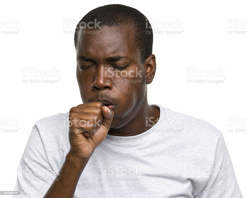 Coughing Man royalty-free stock photo