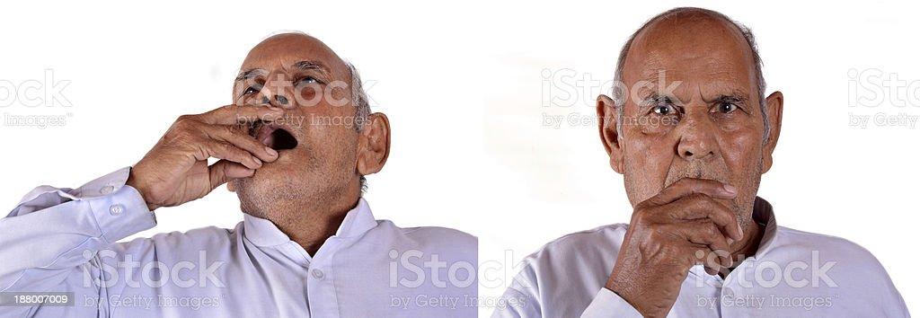 Coughing Men royalty-free stock photo