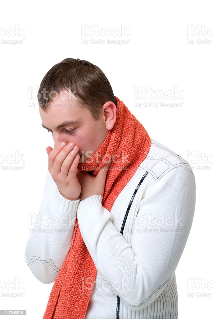 coughing sick man royalty-free stock photo