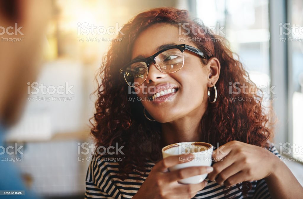 I could talk about coffee all day royalty-free stock photo