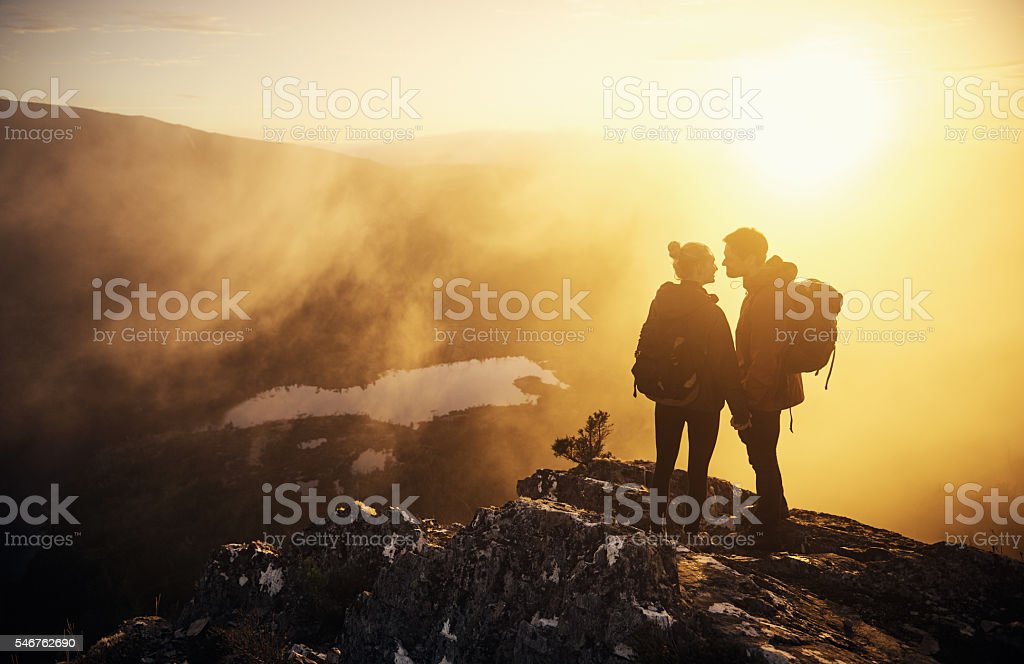 Could we have found a more romantic spot? stock photo