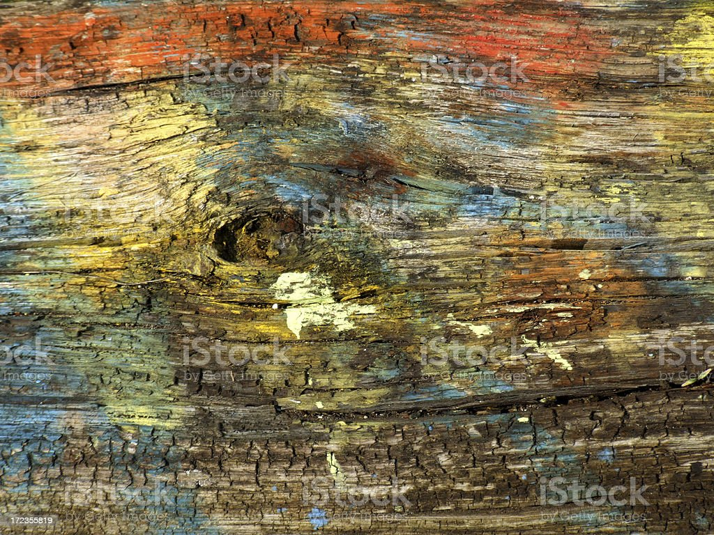 Coulored piece of wood royalty-free stock photo