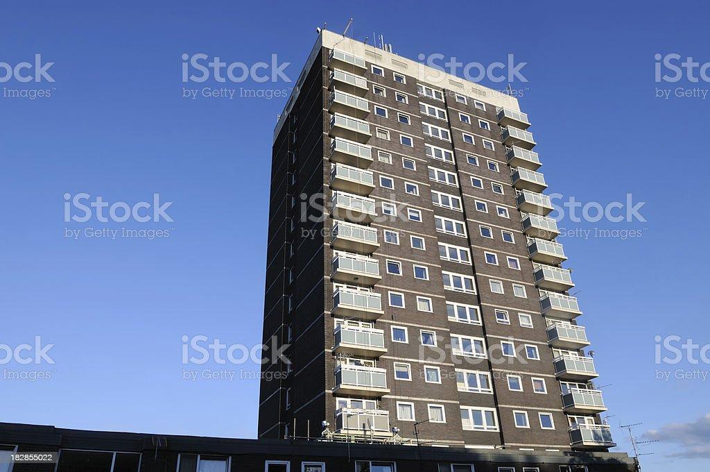 Council Flats, UK royalty-free stock photo