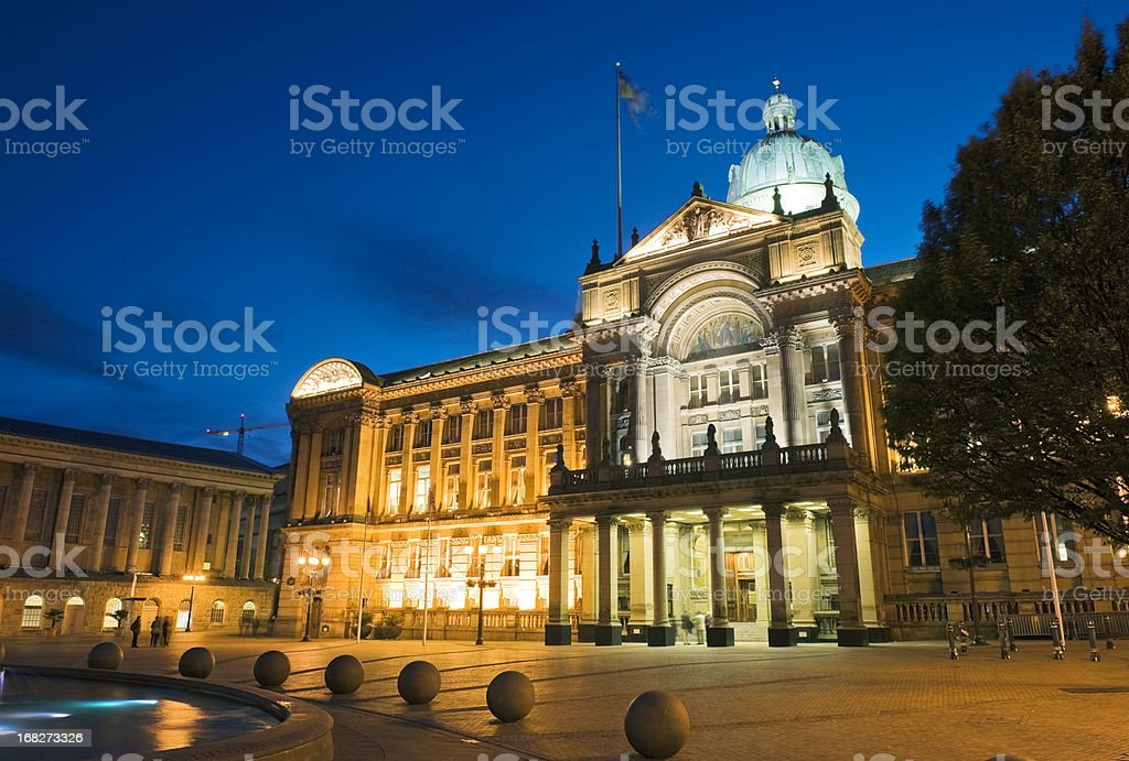 Council House in Victoria Square Birmingham at Dusk stock photo