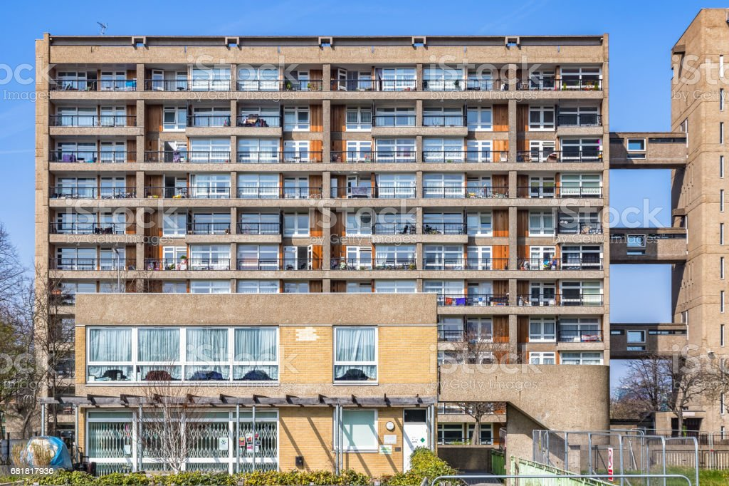 Council housing flats in East London stock photo