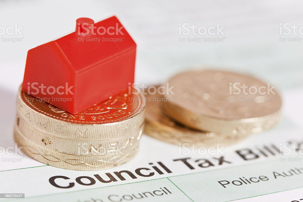 Council Tax Bill stock photo