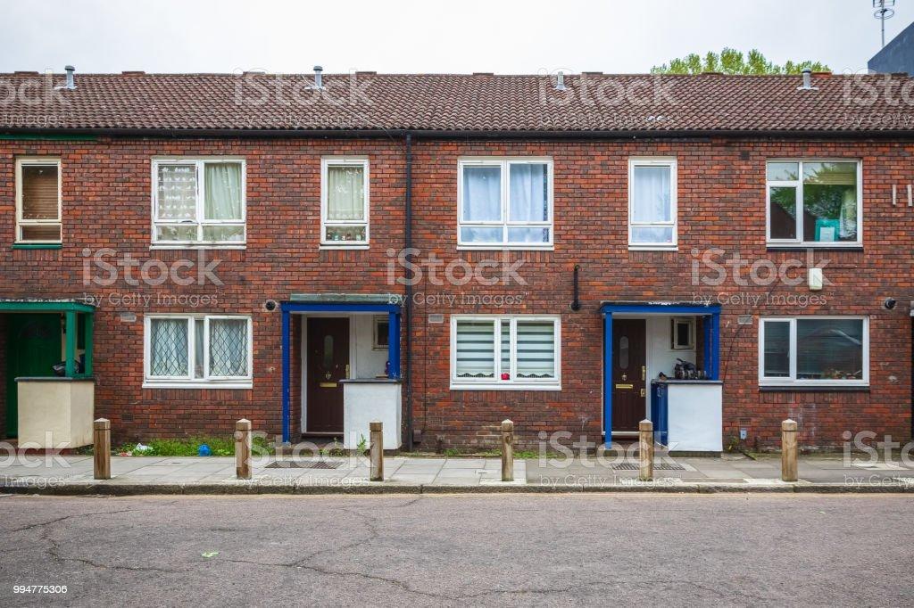 Casas Terraza Consejo Alrededor De Hackney En Londres Foto