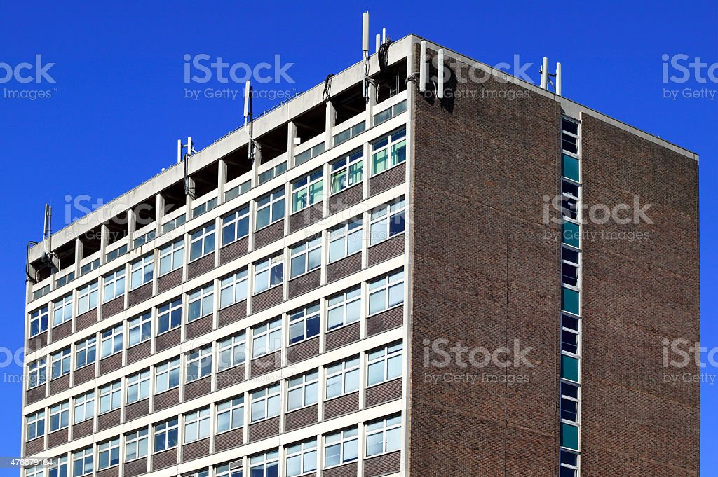 council tower block apartments stock photo