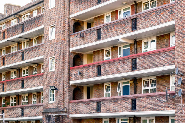 Council tower block in Bermondsey, London stock photo