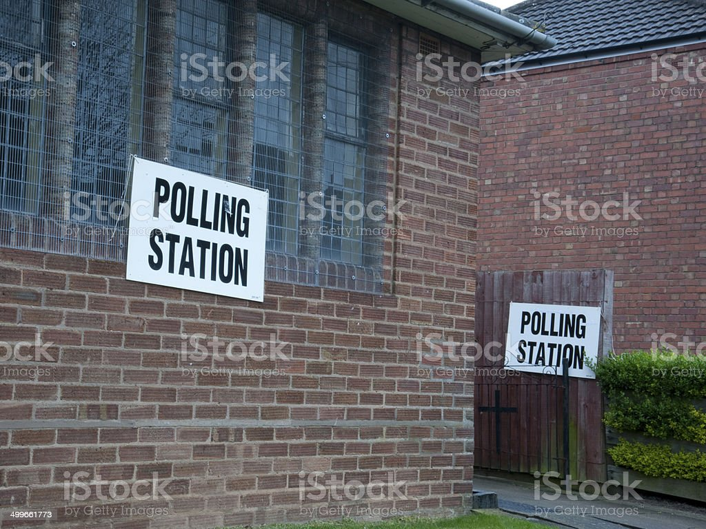 Coundon Polling Station royalty-free stock photo