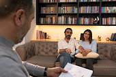 istock Counseling Session psychiatrist talking to couple client 1134992442