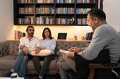 istock Counseling Session psychiatrist talking to couple client 1134992495