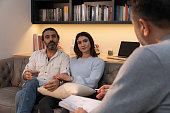 istock Counseling Session psychiatrist talking to couple client 1134993107