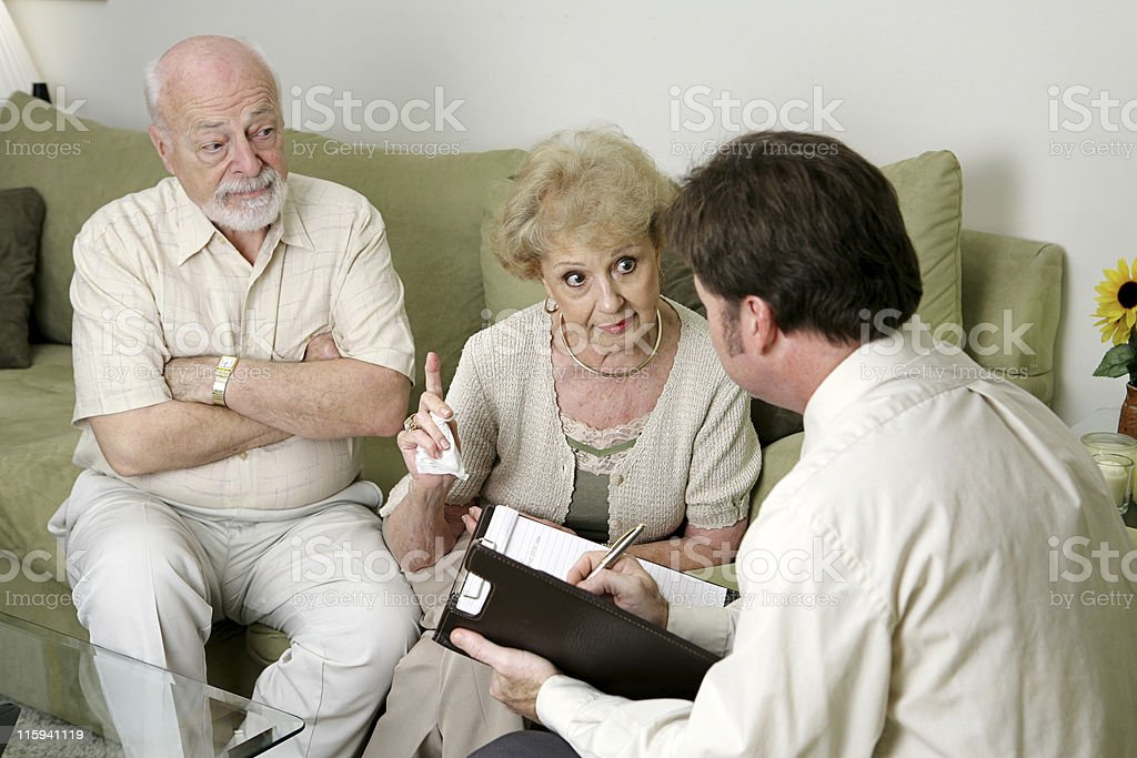 Counseling - You Won't Believe What He Does! stock photo