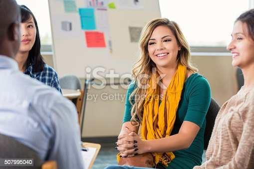 1190039622istockphoto Counselor leading group therapy 507995040