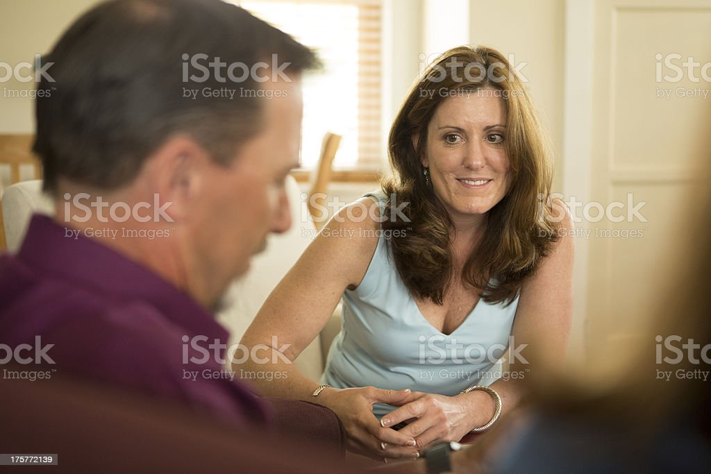 Counselor listening in Counseling Session royalty-free stock photo