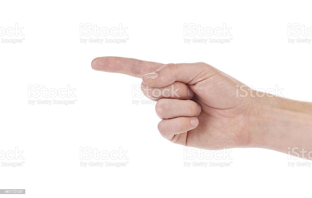 Count by the fingers. stock photo