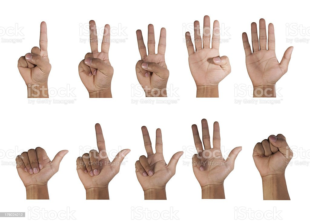 count fingers stock photo