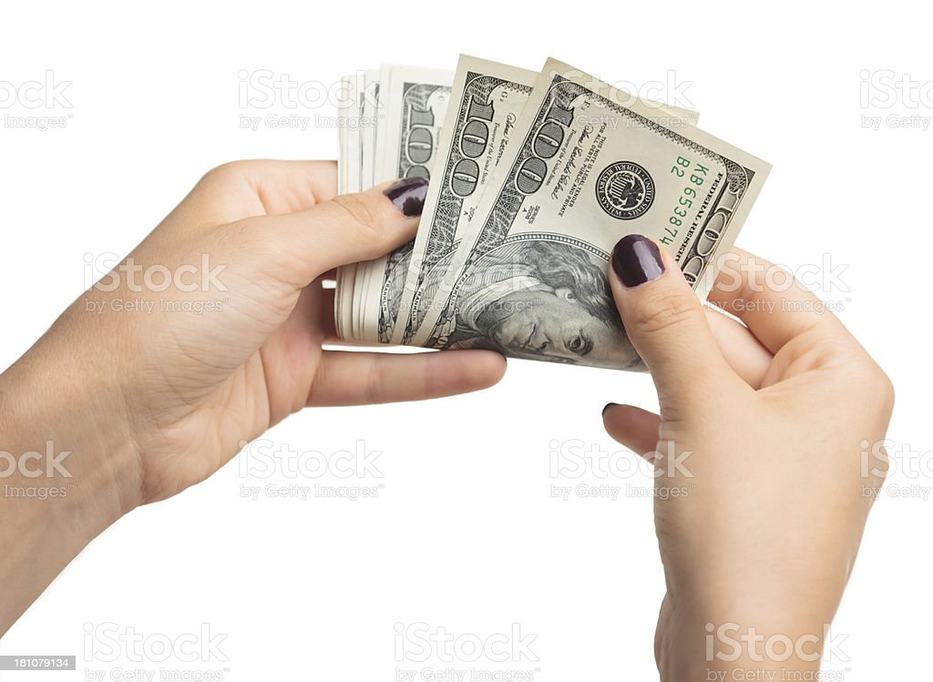 Count money royalty-free stock photo
