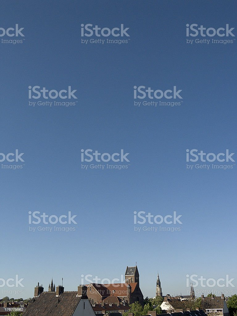 count the churches... royalty-free stock photo