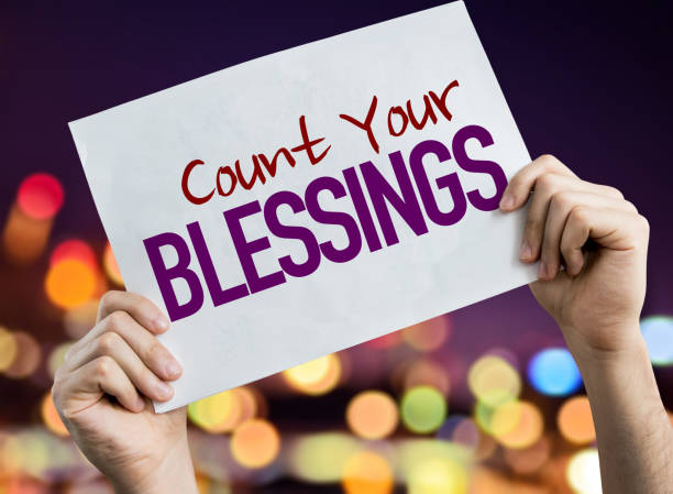 Count Your Blessings stock photo