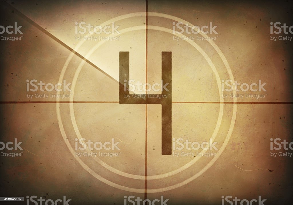 Countdown Four stock photo