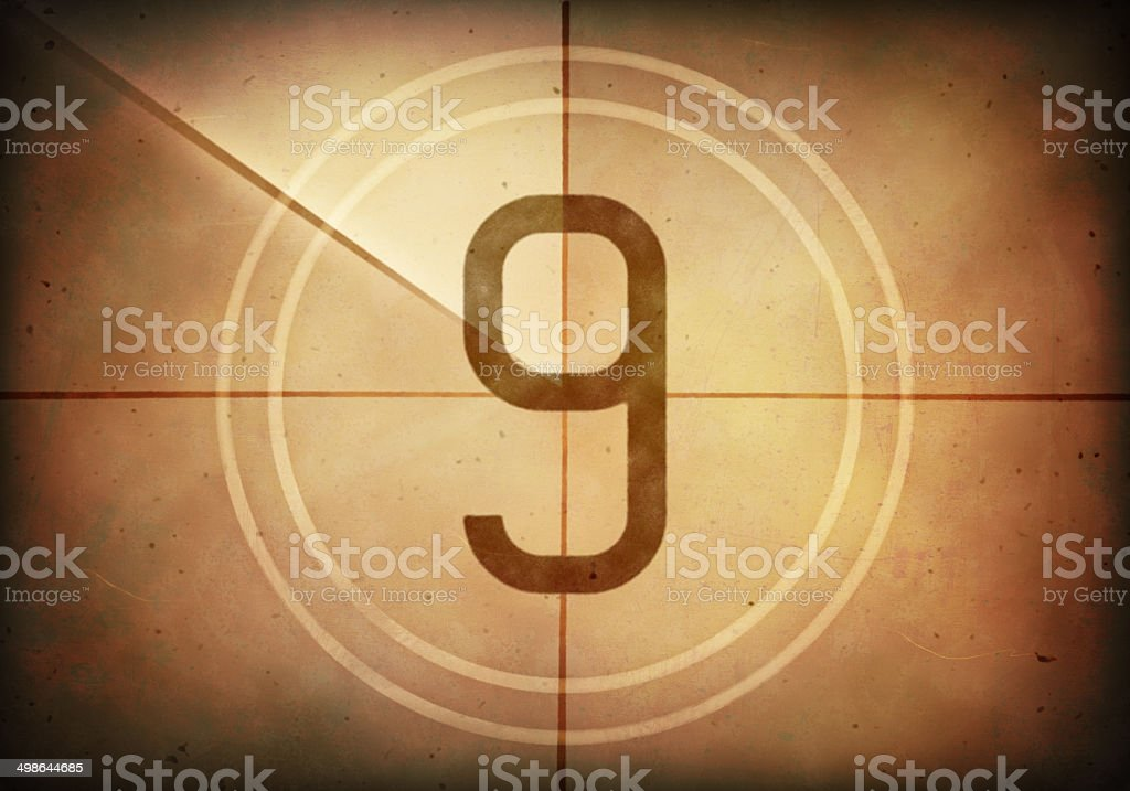 Countdown Nine stock photo