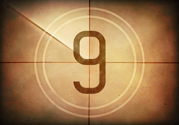 Countdown Nine stock photo