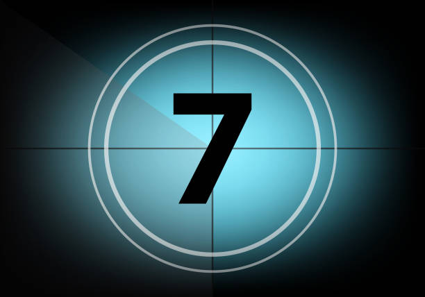 Countdown number seven Countdown number seven number 7 stock pictures, royalty-free photos & images