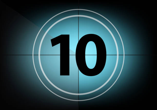 Countdown number ten Countdown number ten countdown stock pictures, royalty-free photos & images