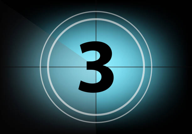 countdown number three - countdown stock pictures, royalty-free photos & images