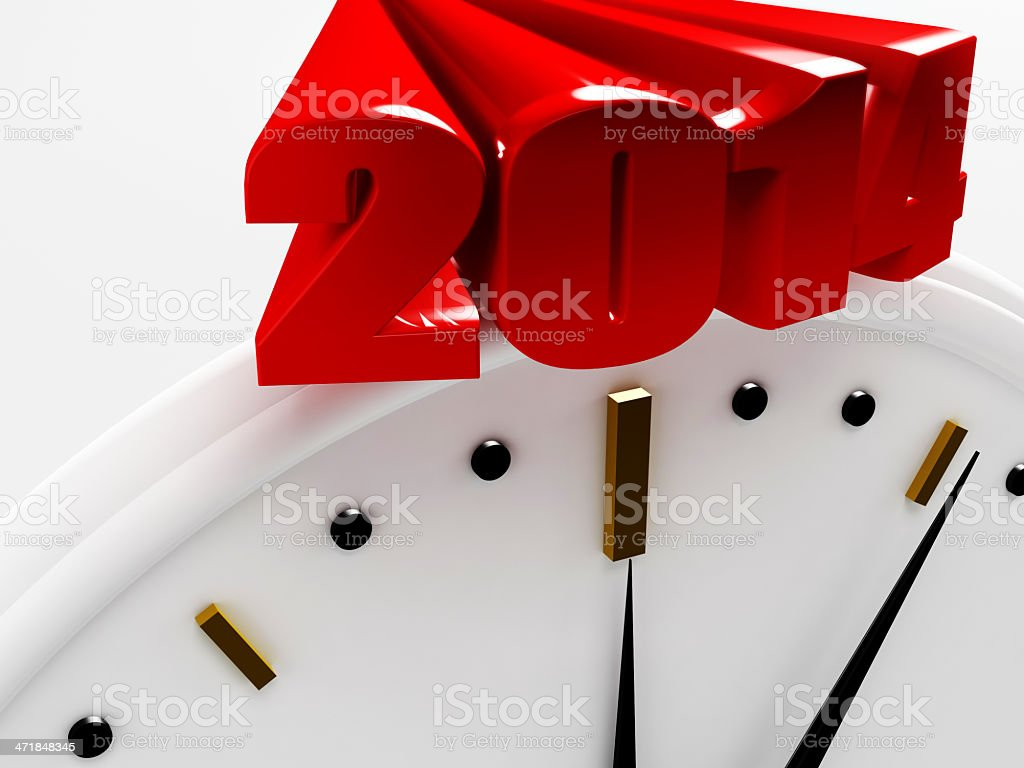 2014 Countdown royalty-free stock photo