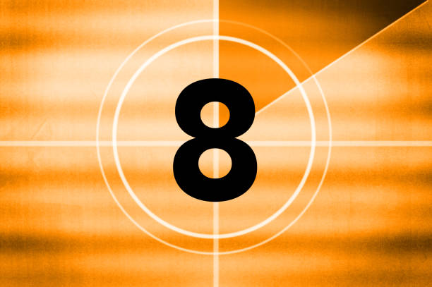 countdown - number 8 stock pictures, royalty-free photos & images