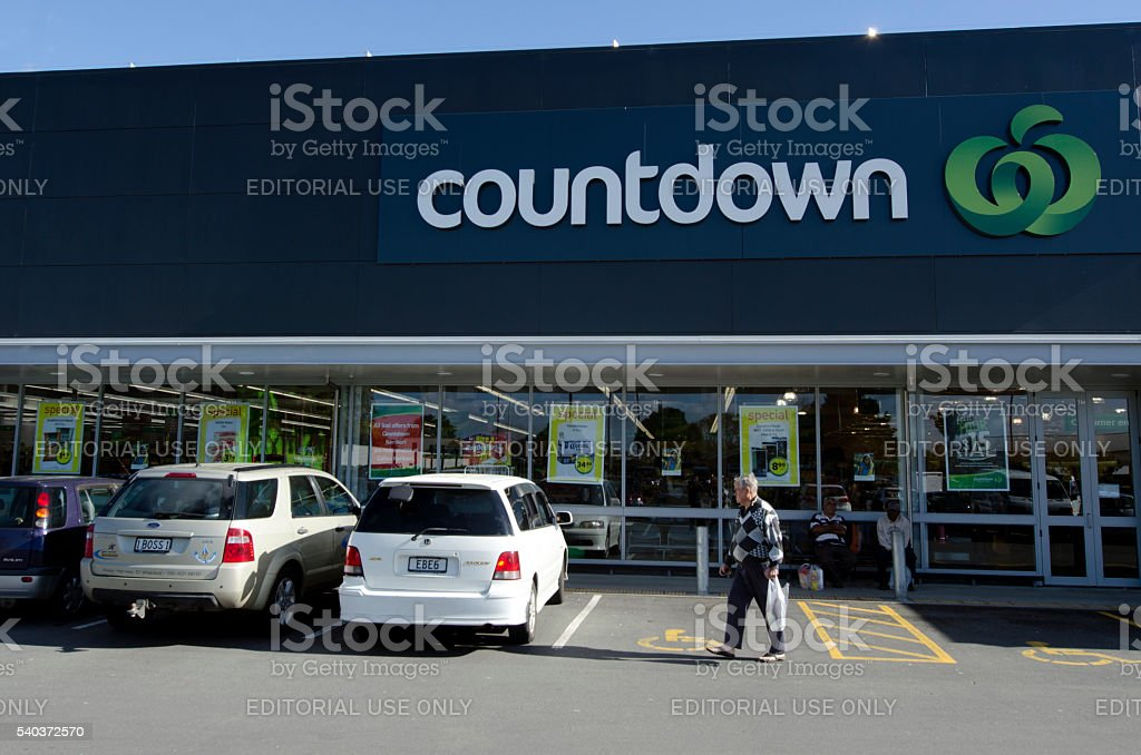 Countdown - Supermarket stock photo