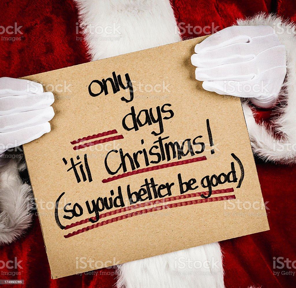 Countdown to Christmas royalty-free stock photo